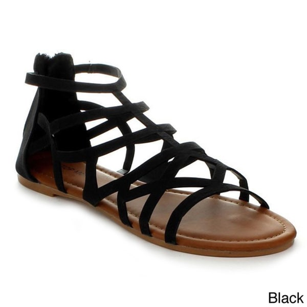 Top Moda Ra-2 Women's Gladiator Flat Sandals