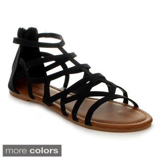 Top Moda Ra-2 Women's Gladiator Flat Sandals