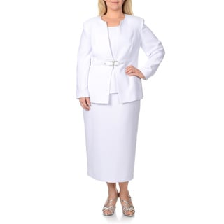 Giovanna Signature Women's Plus-size 3-piece Skirt Suit