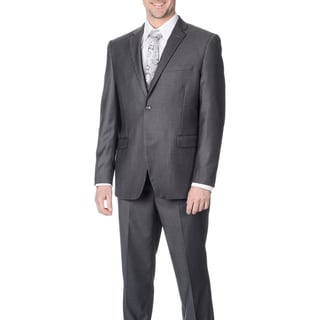Caravelli Men's Slim Fit Grey Vested Suit
