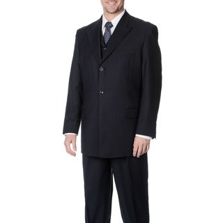Caravelli Fusion Men's Navy 3-piece Vested Suit