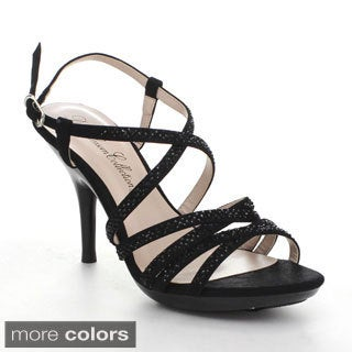 Blossom Lin-131 Women's Sparkle Strappy Evening Heels