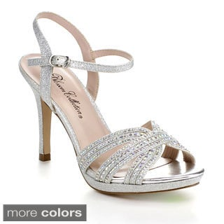 Blossom Marcie-14 Women's Sparkle Ankle Strap Evening Heel