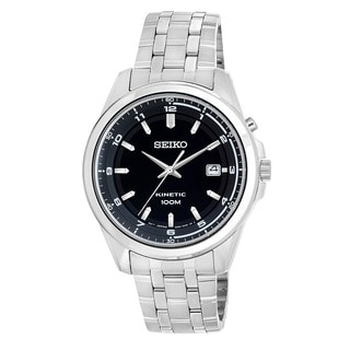 Seiko Men's SKA633 'Core' Stainless Steel Kinetic Watch