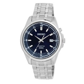 Seiko Men's SKA631 'Core' Stainless Steel Navy Automatic Watch