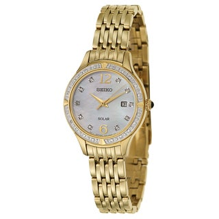 Seiko Women's SUT094 'Core' Yellow Gold-plated Diamond Watch