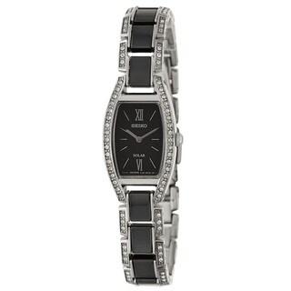 Seiko Women's SUP223 'Solar' Swarovski Crystal Ceramic Watch