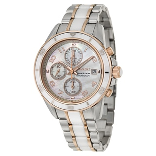 Seiko Women's SNDX54 'Sportura' Rose Gold-plated Chronograph Watch