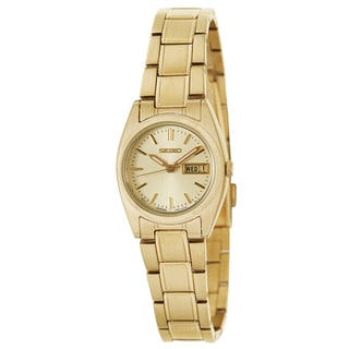 Seiko Women's SXA122 'Core' Yellow Gold-plated Stainless Steel Watch