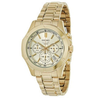 Seiko Men's SSB112 Yellow Gold-plated Stainless Steel Chronograph Watch