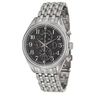 Seiko Men's SSC207 'Core' Stainless Steel Alarm Chronograph Watch