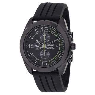 Seiko Men's SSC205 'Core' Black Ion-plated Stainless Steel Chronograph Watch