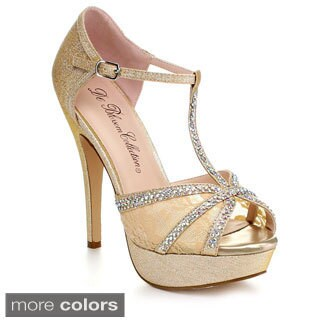 Blossom Vice-85 Women's Fabric Lace Vamp Platform Heels