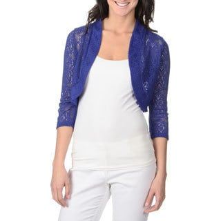 Lennie for Nina Leonard Women's Lace Knit Shrug