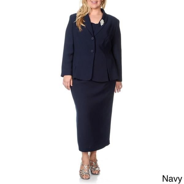 Giovanna Signature Women's Plus-size 2-piece Skirt Suit