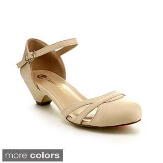 Be Intouch Gabby-1 Women's Ankle-Strap Kitten Heel Sandals