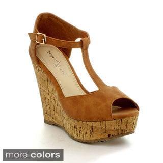 Fashion Focus Joan-1 Women's Open Toe Elegant High Wedge