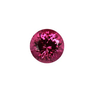Round-cut 6.7mm 1 1/2ct TGW Pink Spinel Stone