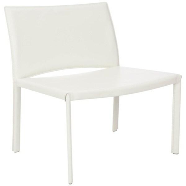 Safavieh Metropolitan Dining Garret White Leisure Chairs (Set of 2) -  FOX2001B-SET2