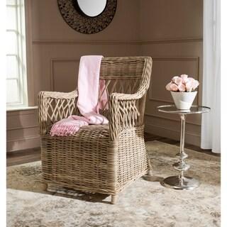 Safavieh Hinaku Kubu Soft Grey Rattan Arm Chair