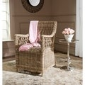 Safavieh Hinaku Kubu Soft Grey Rattan Arm Chair