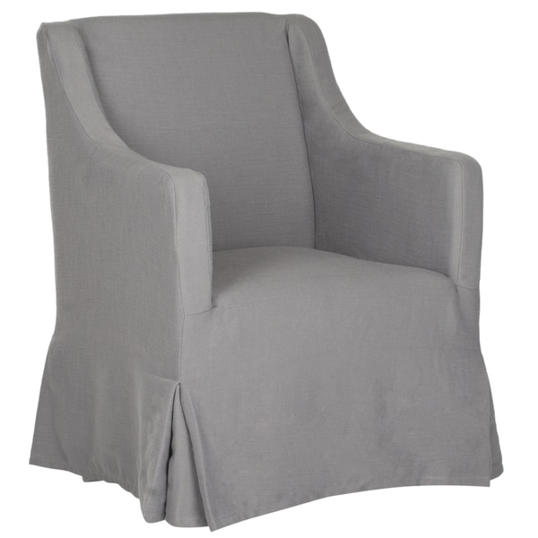 Safavieh Sandra Arctic Grey Slipcover Chair