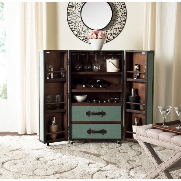Safavieh Grayson Storage Sage Bar Cabinet