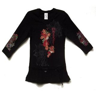 Ed Hardy Girl's Long-sleeve Black Tunic