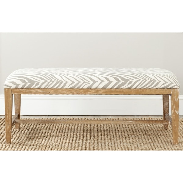Safavieh Zambia Grey Zebra Bench