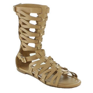 Nature Breeze Rome-06 Women's Low Heel Gladiator Sandal