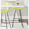 Safavieh Akito Green 30-inch Bar Stool (Set of 2)