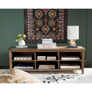 Safavieh Sadie Oak Finish Low Bookshelf