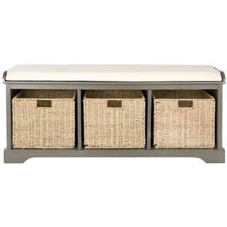 Safavieh Lonan Grey/ White Storage Bench