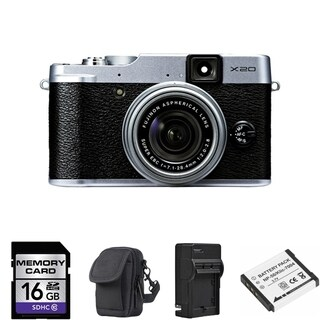 FujiFilm X20 Silver Digital Camera 16GB Bundle