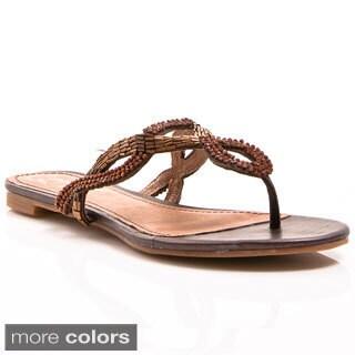 Envy Women's Chicklit Rhinestone-embellished Sandals
