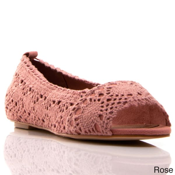 Envy Women's Box Office Lace Open-toe Flats