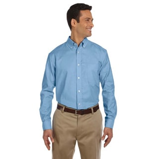 Men's Long-sleeve Stain-release Oxford