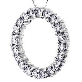 14k/ 18k Gold or Platinum 3ct TDW Circle of Love Diamond Pendant (F-G) (SI1-SI2)