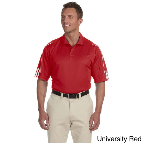 Adidas Men's ClimaLite 3-stripes Cuffed Polo Shirt