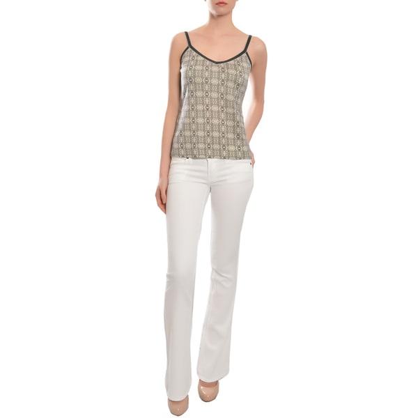 Emanuel Ungaro Women's Cashmere Silk Print Top Shirt