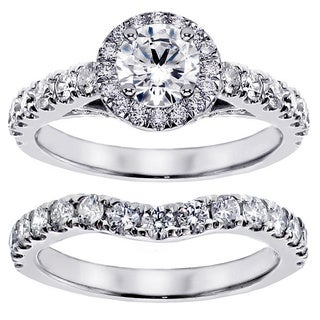 14k/ 18k Gold 3ct TDW Round Diamond Bridal Ring Set (G-H, SI1-SI2)