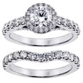14k/ 18k Gold or Platinum 3ct TDW Round Diamond Bridal Ring Set (F-G, SI1-SI2)