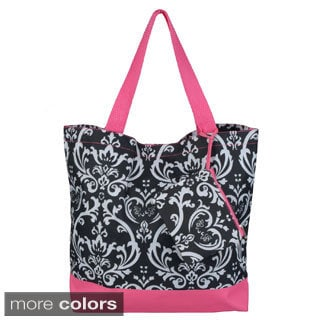 Journee Collection Women's Double Handle Damask Print Tote Bag