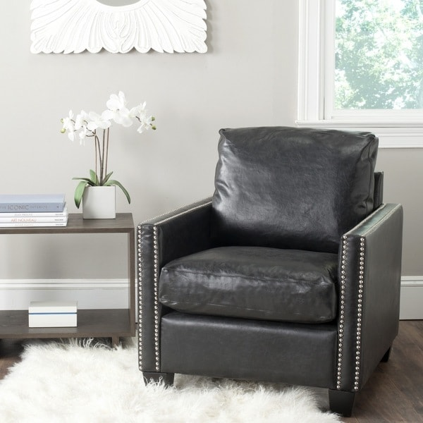 Safavieh Horace Antique Black Club Chair