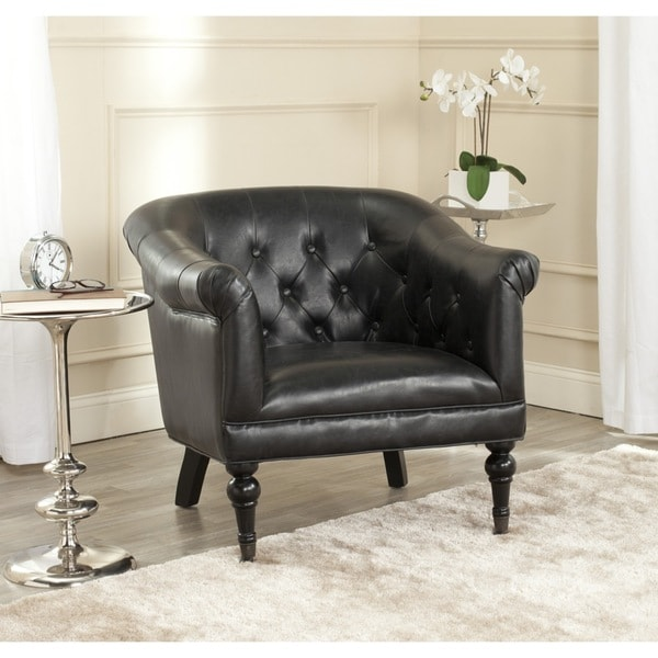 Safavieh Nicolas Antique Black Club Chair