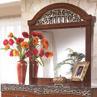 Signature Design by Ashley Fairbrooks Estate Reddish Brown Bedroom Mirror