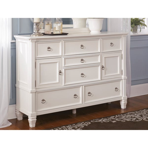 Signature Design by Ashley Prentice White Dresser