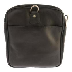 Piel Leather Collapsible Duffel To Carry-All 3010 Black Leather