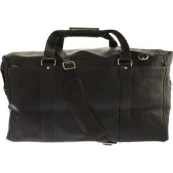 Piel Leather Extra Large Zip-Pocket Duffel 2997 Black Leather