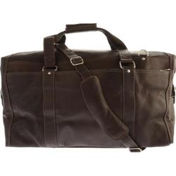 Piel Leather Extra Large Zip-Pocket Duffel 2997 Chocolate Leather